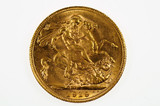 1919 Perth Mint Gold Full Sovereign Variety Multiple Die Cracks in aEF