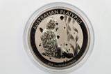 2016 1oz 9995 Platinum Australian Platypus $100 Uncirculated Coin