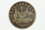 1916 Threepence George V in Fine Condition