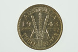 1943 S Threepence George VI in Almost Uncirculated Condition