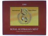 1986 Royal Australian Mint International Year of Peace Unc Coin Set