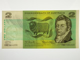 1966 Two Dollars Coombs / Wilson Banknote in Very Fine Condition
