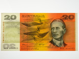 1991 Twenty Dollars Fraser / Cole Banknote in Uncirculated Condition