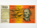 1985 Twenty Dollars Johnston / Fraser Banknote in Uncirculated Condition