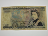Great Britain 1971-72 Five Pounds Banknote in Almost Very Fine Condition