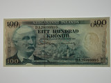 Iceland 1961 100 Kronur Banknote in  Uncirculated Condition