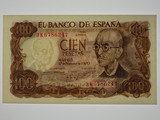 Spain 1974 100 Pesetas Banknote in Uncirculated Condition