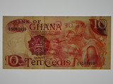 Ghana 1978 Ten Cedis Banknote in Uncirculated Condition