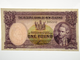 New Zealand 1955-56 One Pound G. Wilson Banknote in VF Condition