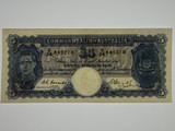 1949 Five Pounds Coombs / Watt Banknote in aUnc Condition