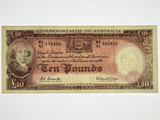 1960 Ten Pounds Coombs / Wilson Banknote in Very Fine Condition