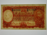 1936 Ten Shillings Riddle / Sheehan Banknote in Very Fine Condition