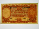 1949 Ten Shillings Coombs / Watt Banknote in Extremely Fine Condition