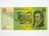 1976 Two Dollars Knight / Wheeler Banknote in Uncirculated Condition