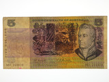 1967 Five Dollars Coombs / Randall Missing Ink / Rainbow Banknote