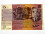 1979 Five Dollars Knight / Stone Consecutive Pair of Banknotes