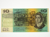 1976 Ten Dollars Knight / Wheeler Banknote in Uncirculated Condition