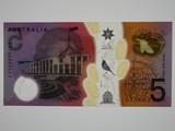 2016 Five Dollars Stevens / Fraser Last Prefix EJ16 Banknote