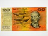 1976 Twenty Dollars Knight / Wheeler Banknote in Very Fine Condition