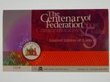 2001 The Centenary of Federation Commemorative $5 Banknote Folder