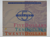 1995 Dated Annual Set $5 ,$10 and $20 Same Low Number Banknote Folders