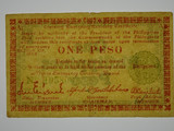 Philippines 1943 One Peso Negros Emergency Currency Board Banknote