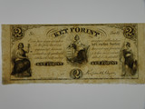Hungary 1800's 2 Ket Forint Banknote in Extremely Fine Condition