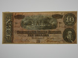 1864 Confederate States of America Ten Dollars Richmond Banknote