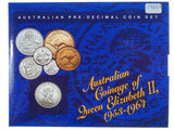 Australian Coinage of Queen Elizabeth II 1953 - 1964 Pre Decimal Coin Set