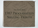 2008 1787 Proclamation Shilling 50 Cent Silver Proof Coin