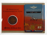1998 Royal Flying Doctors $5 Dollar Uncirculated Coin and $2 Phone Card