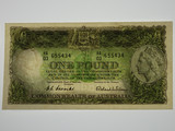 1953 Coombs / Wilson One Pound Banknote in Uncirculated Condition