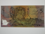 1993 Five Dollars Fraser / Evans Banknote in Uncirculated Condition