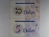 1994 Dated Annual Issues $5, $10 Deluxe Low Same Numbered Banknote