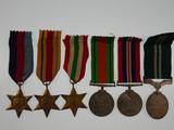 39-45, Africa and Italy Star, Defence and War Medal 39-45 & Air Efficiency Award