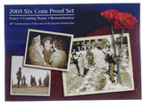 2005 Royal Australian Mint End of WWII 60th Anniversary Proof Coin Set