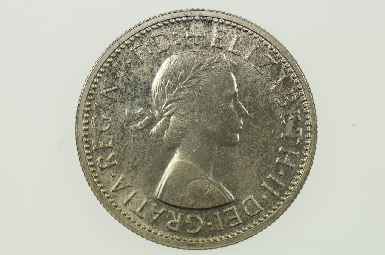 1958 Florin Elizabeth II in Proof Condition Obverse