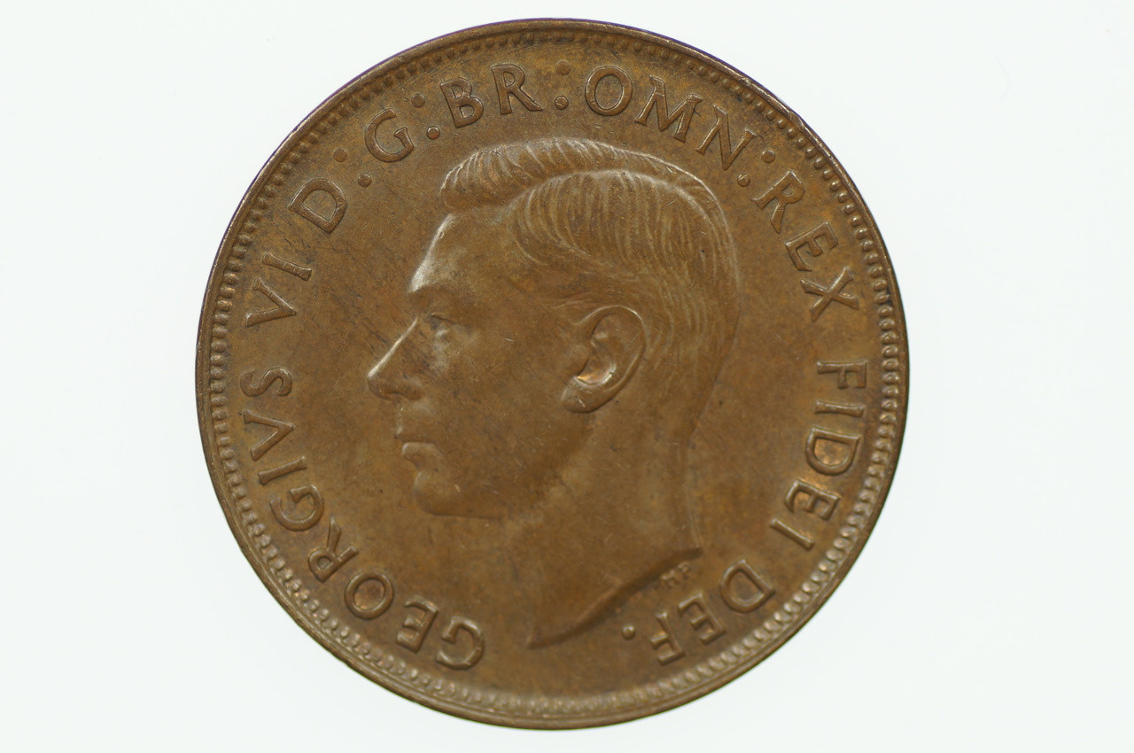 1950 Penny George VI in Uncirculated Condition Obverse
