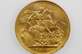 1918 Sydney Mint Gold Full Sovereign in Almost EF Condition