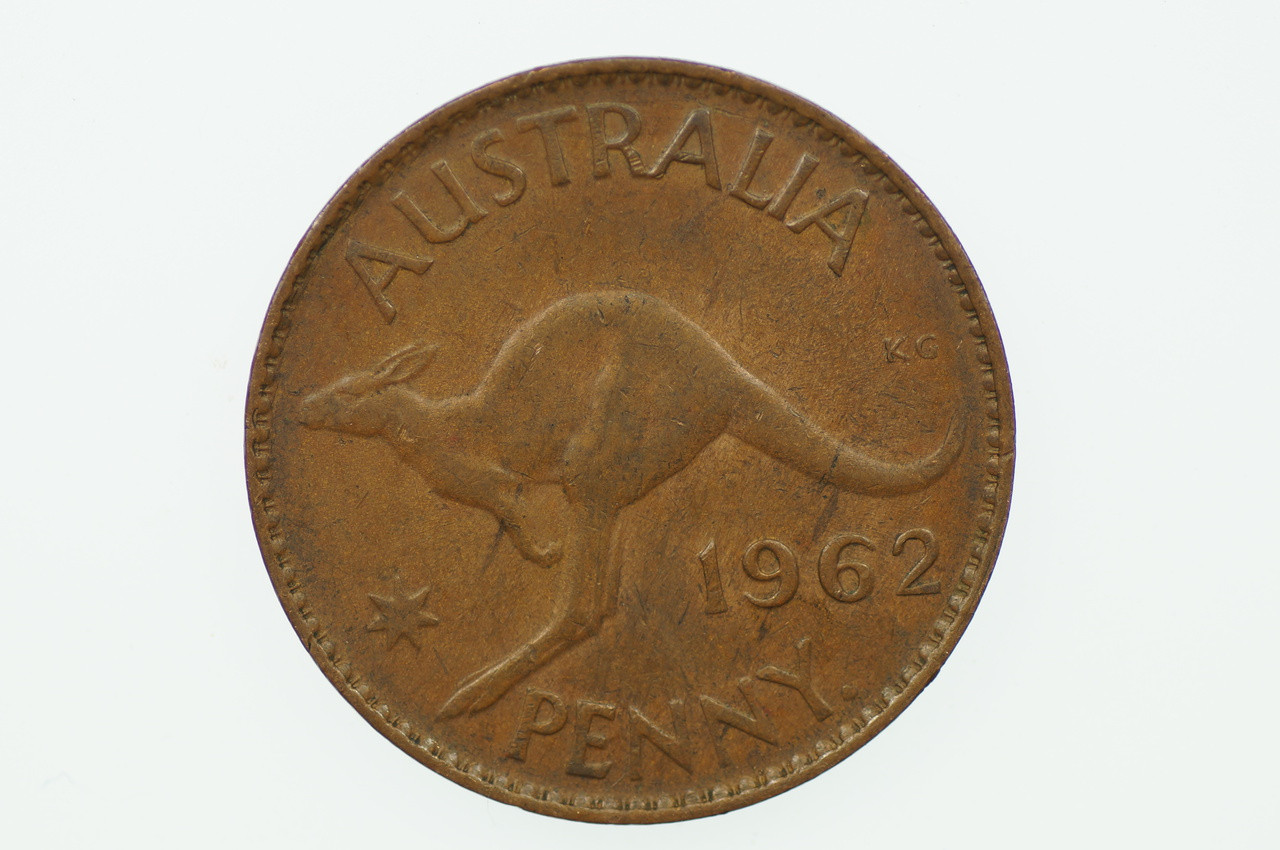 1962 Penny Double Nose Variety in a EF Condition Reverse