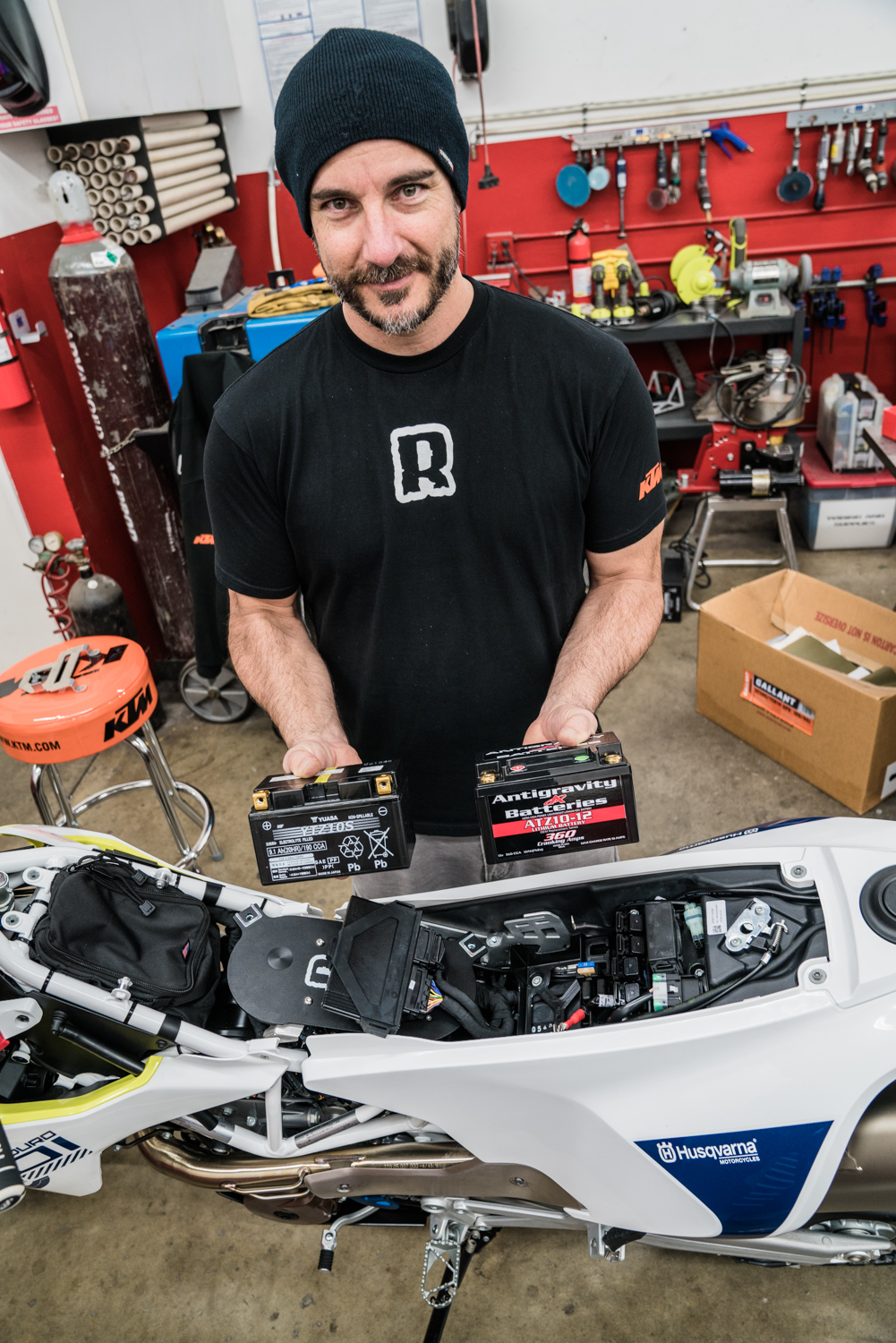 Second Time Around Ride Must Go On 701 Rally Build Rottweiler Husqvarna Wiring Harness Connectors We Have Had Great Success With Lithium Batteries And Consider Them One Of The First Swaps When Purchasing A New Bike Extra Cold Cranking Amps Is Also