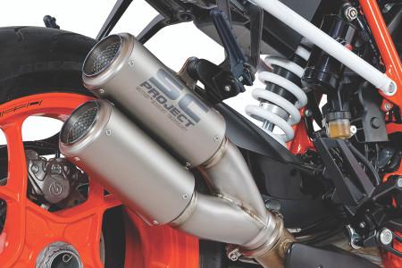 SC Project - KTM 1290 Super Duke R CR-T Dual Tip Titanium Slip-On Exhaust System