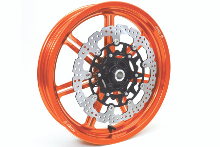 Warp9 - KTM 690 Enduro/SMC-R / Husqvarna 701 Enduro/SM Stiletto Billet Supermoto Wheels