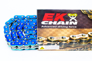 EK Chains 525 ZVX3 Series Street NX-Ring Chain (120) - Blue