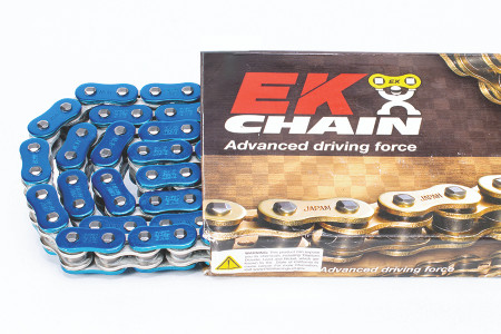 EK Chains 525 ZVX3 Series Street NX-Ring Chain (120) - Blue