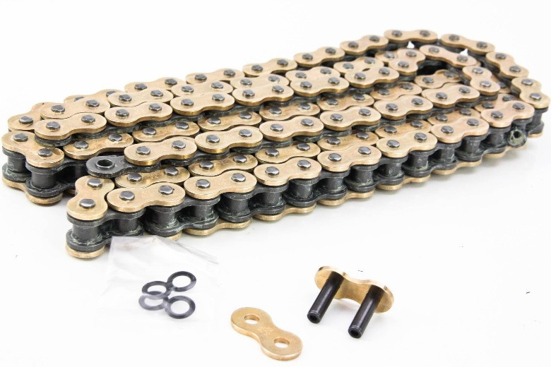 108 with rivet link DID X Ring Gold /& Black Motorcycle Chain 525