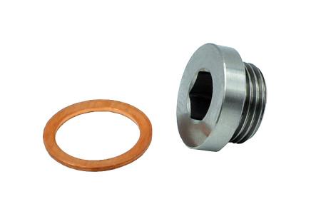 O2 Sensor Plug / (12mm Stainless Steel)