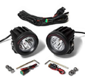 Cyclops Optimus LED Auxiliary lights mounted with PIAA universal mounting brackets.