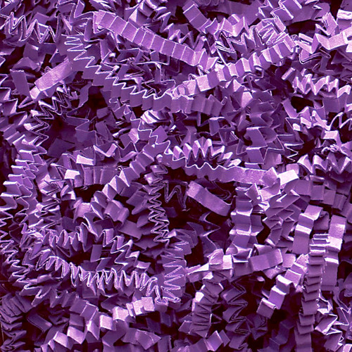 Purple Crinkle cut gift wrap paper shredding for gifts, presents, craft projects and wedding favours