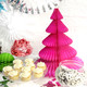 Modern and alternative dark pink Honeycomb Christmas Tree decoration for table centrepieces or party decor